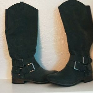 Crown Vintage Riding Boots 7.5 Gray